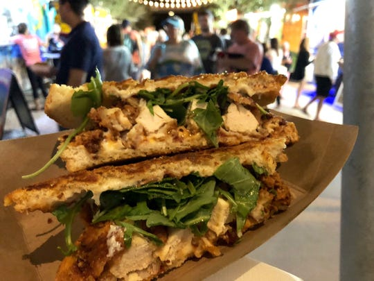 A pimento chicken panini from Smith Organics, a food truck at Celebration Park in Naples.