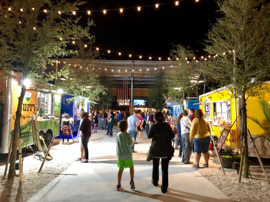 Celebration Park opened in November 2018 with permanent food trucks and a full bar on the waterfront off Bayshore Drive in East Naples.
