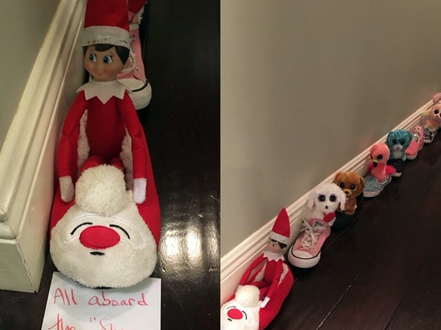 Ralphie the elf at the Carroll household.