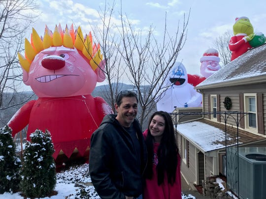 Kevin and Sydney Malinski outside their Macopin Road home.