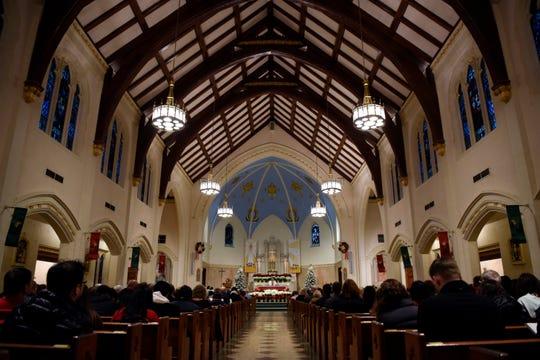 Inside St. John the Evangelist church in Bergenfield.