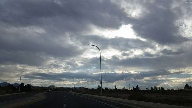 Cloudy skies are seen in mid-December 2018 in north Las Cruces.