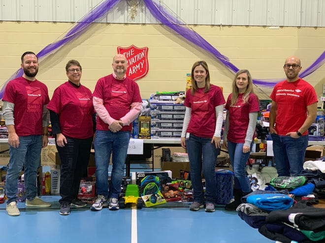Bank of America employees volunteered last week at the Salvation Army Community Center in Farmington Hills.