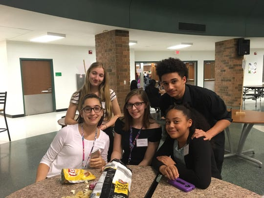 Farmington HOSA middle schoolers enjoying a break.