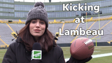 Olivia Reiner discusses how wind patterns in Green Bay can impact a kicker's performance at Lambeau Field.