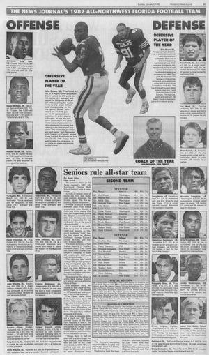 The 1987 PNJ All-Area Football Team.