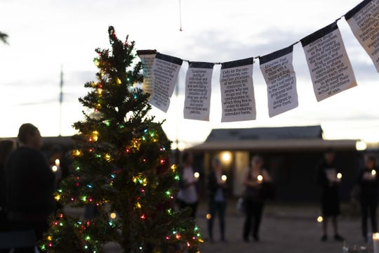 Sonoran Prevention Works and Shot in the Dark, invite family and friends to honor 70 community members, who lost to an overdose, put their names on a Christmas Tree in downtown Phoenix. Each name was written on a tag and hung on a Christmas tree. The gesture was followed by a moment of silence.  Since June 15, 2017, when the department began collecting opioid data in real time, through Dec. 20, 2018, the state has recorded more than 2,500 suspected opioid overdose deaths.