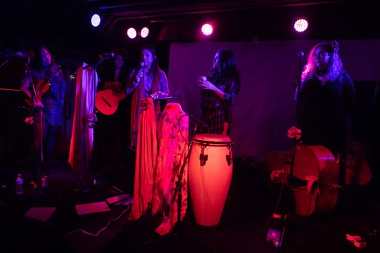 Las Chollas Peligrosas brought their brand of Latin music to The Valley Bar on Saturday, Dec. 22, 2018 in Phoenix.