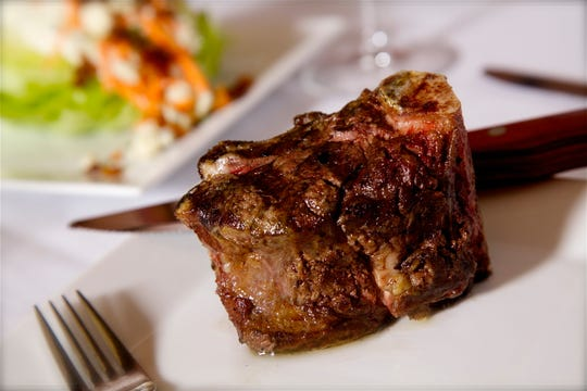 The menu at Keeler's Neighborhood Steakhouse features certified Angus beef specialty-cut steaks and American comfort food.