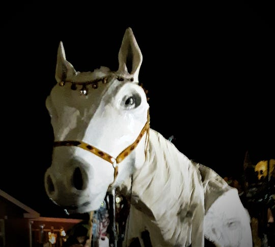 Sinterklaas' horse, a life-sized puppet in the 2018 Rhinebeck Sinterklaas parade@jimberetta2