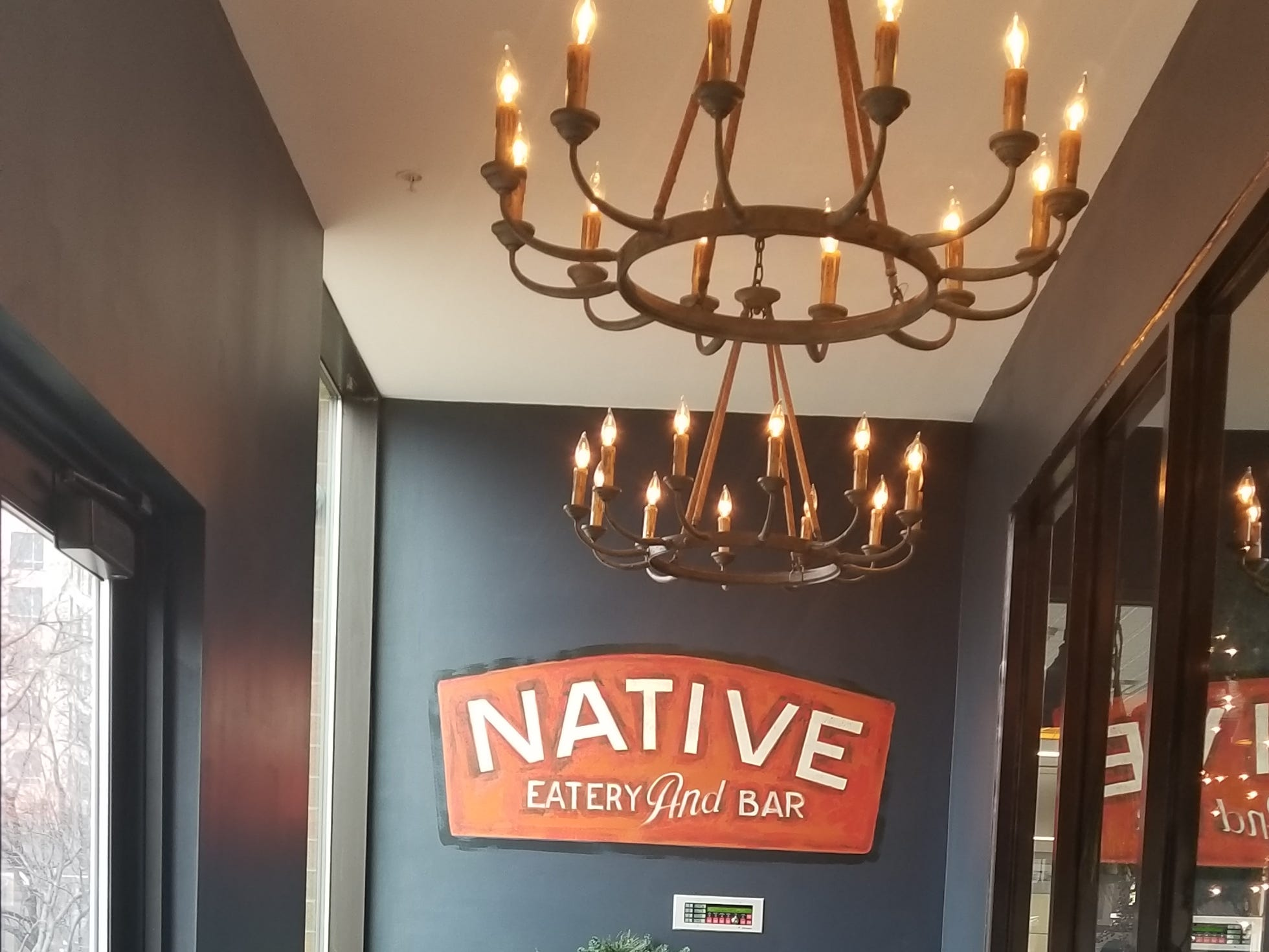 Entry to Native Eatery and Bar in downtown Rochester.