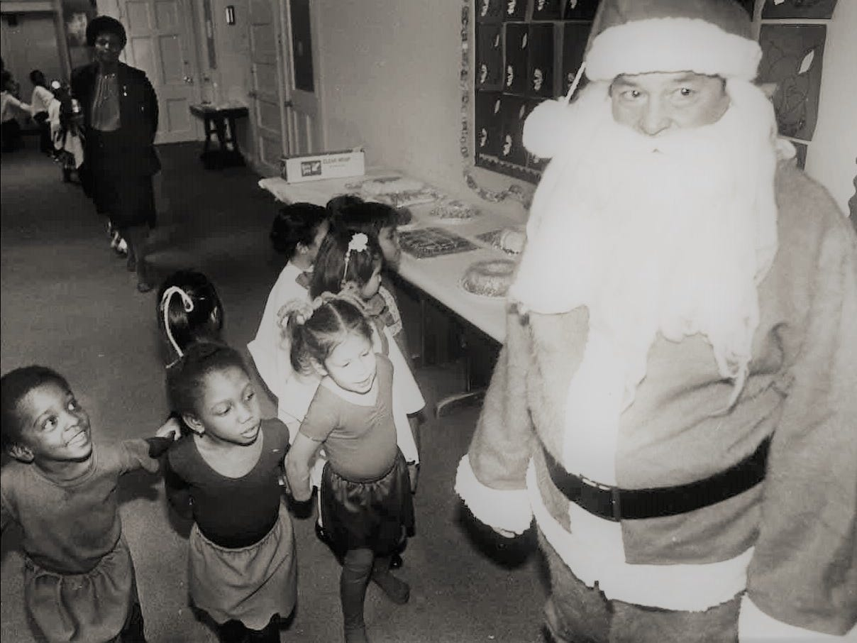 Santa found these little elves to be thrilled over his appearance in the Carver Elementary Christmas show on Dec. 15, 1982. Can you identify these youngsters or Santa? Email us at news@gosanangelo.com.