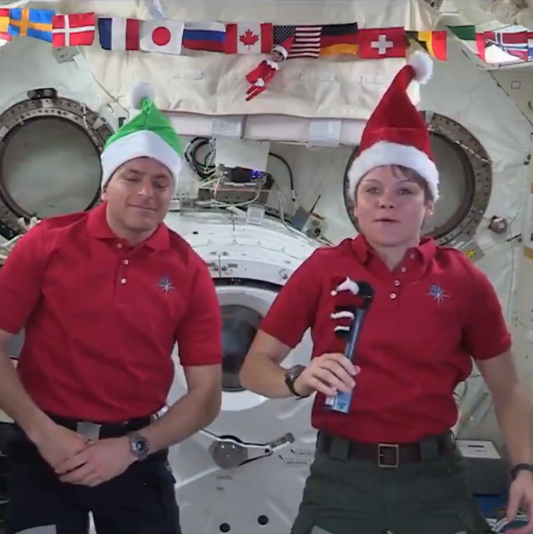 Santa gets a little help from the International Space Station to plan his Christmas route