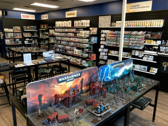 Inside the new Warhammer store at 2701 W. 41st St. in Sioux Falls.