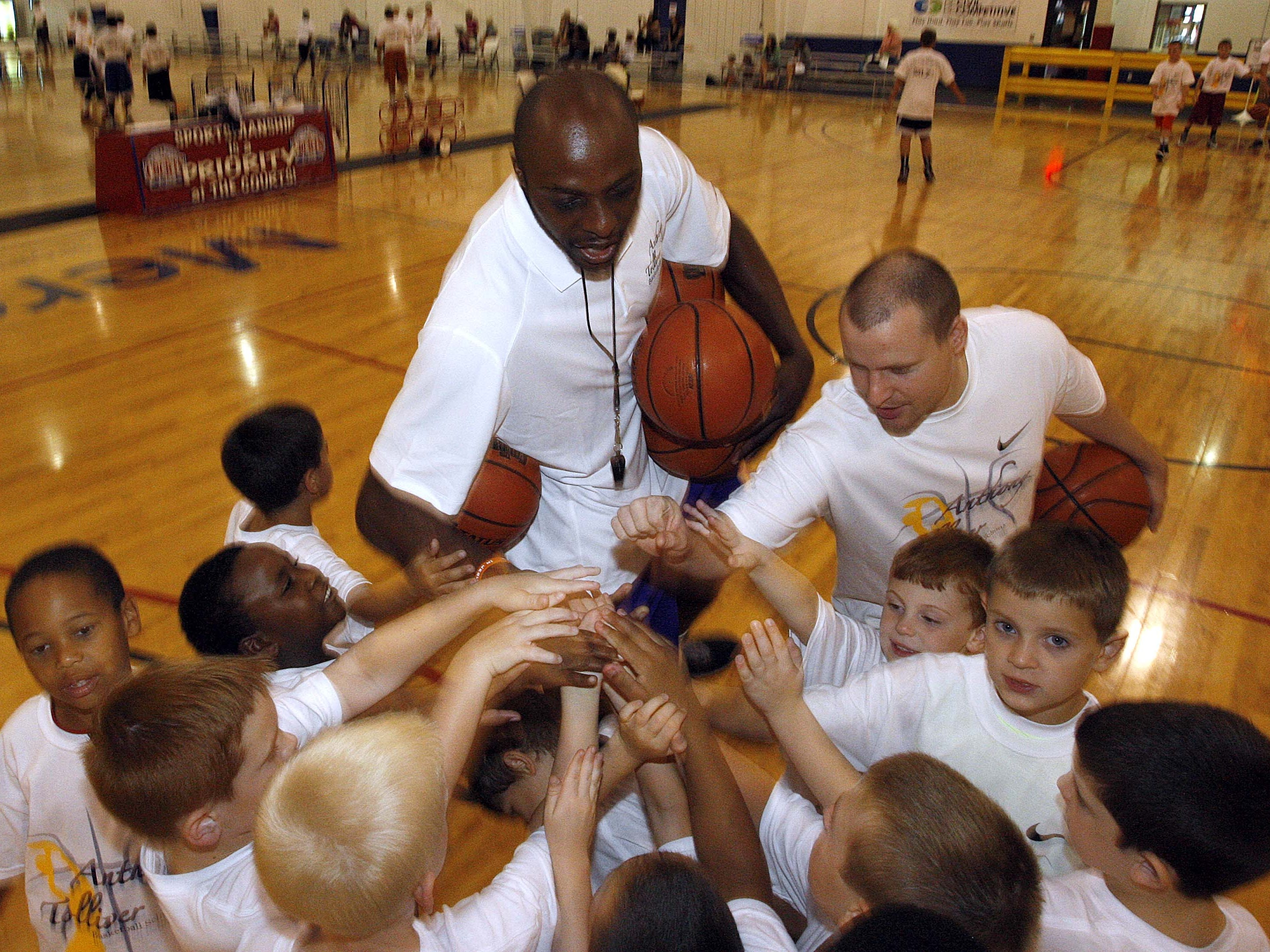 Images from the Anthony Tolliver Basketball camp at The Courts in Springfield on July 24, 2013.