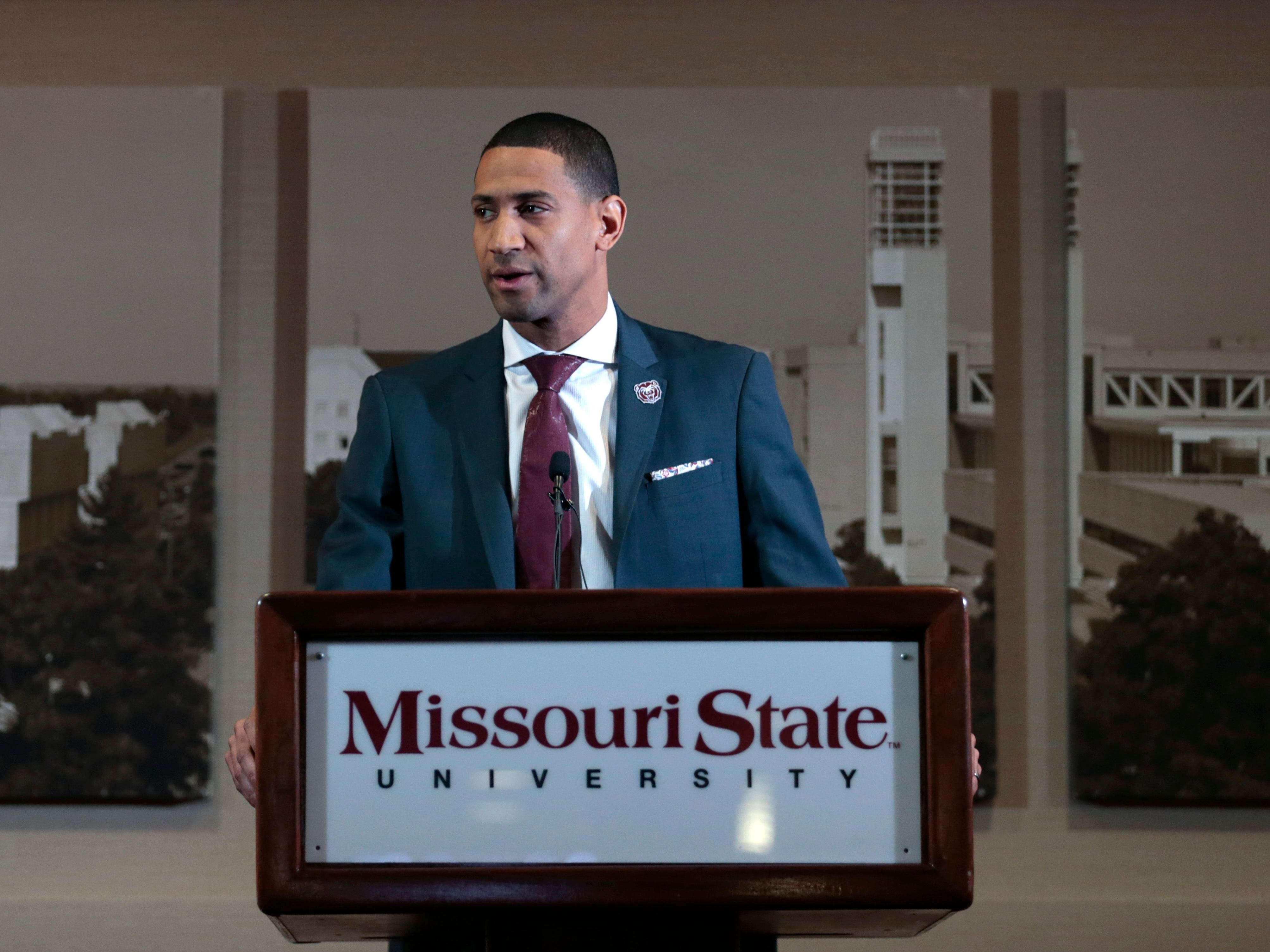 March 22: Missouri State introduced Dana Ford as the new men's head basketball coach during a press conference at JQH Arena.
