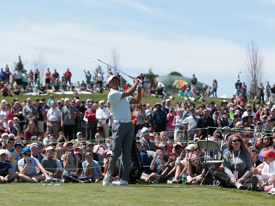 April 17: Tiger Woods hosts golf clinic in Branson.