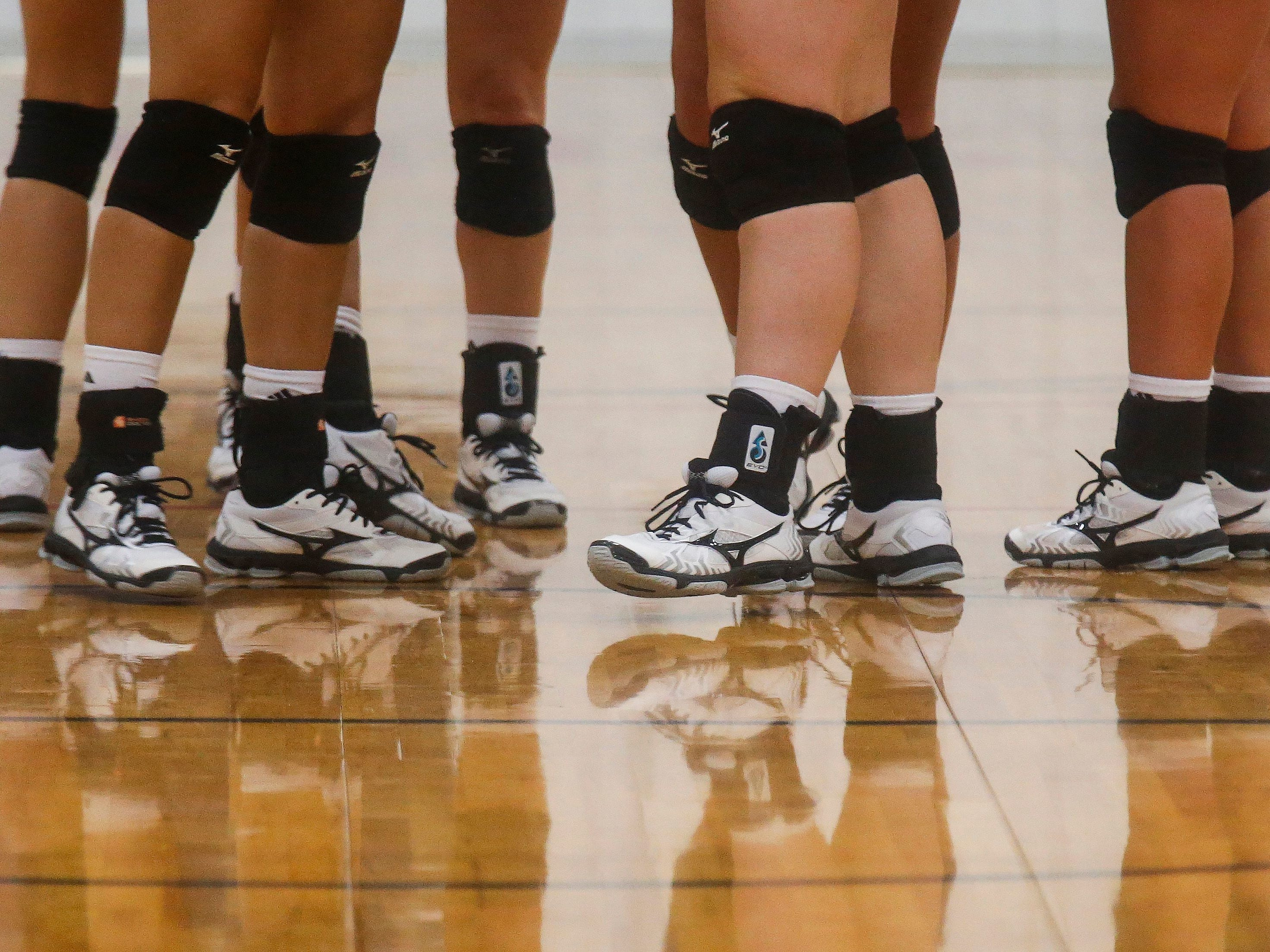 The College of the Ozarks Bobcats wore Mizuno shoes during their game against the Williams Baptist Eagles during the 2018 Evangel Classic at The Courts in Springfield, MO., on Saturday, Sep. 8, 2018.