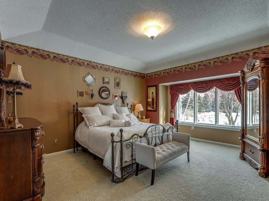 The main floor is home to the classy, elegant master suite.