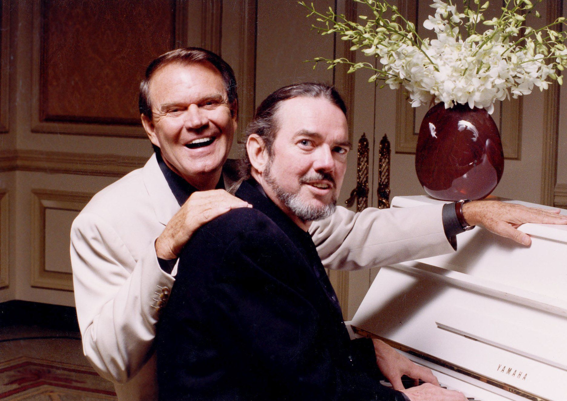 Composer Jimmy Webb, right, will play his songs made famous by the late Glen Campbell, right, during a show at Opening Nights Tuesday.