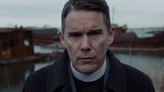 "Ethan Hawke played a conflicted priest in ""First Reformed."""