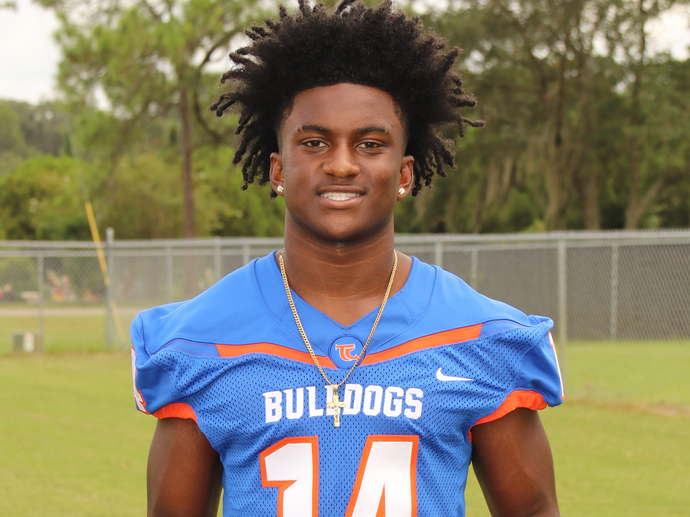 Taylor County sophomore athlete Robert Glanton was named to the 2018 All-Big Bend football first team for utility defense. STATS: 32 rec, 525 yards, 3 TD; 636 pass yards, 6 TD, 4 INT; 399 rush yards, 2 TD; 69 T, INT, 7 PB; FF; PR TD, KR TD