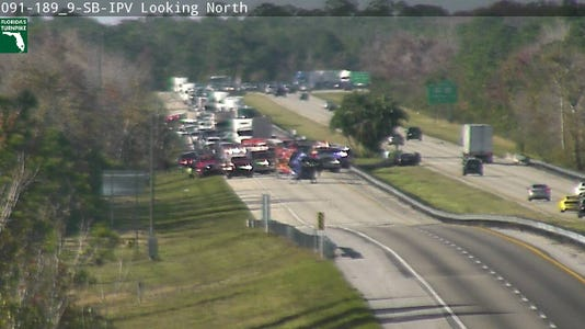 Three airlifted after rollover crash on Turnpike west of Vero