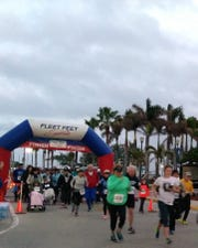 Start of the 2018 Lions Fort Pierce Half Marathon.