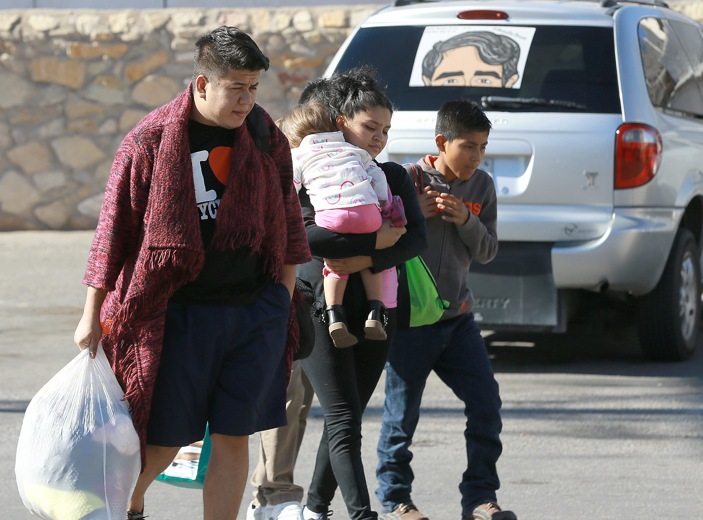 Hundreds of asylum seekers were dropped off Sunday night at the Greyhound bus station in Downtown El Paso before accommodations were made by Annunciation House. Many of the migrants were taken Monday morning back to the Greyhound station to arrange for travel.