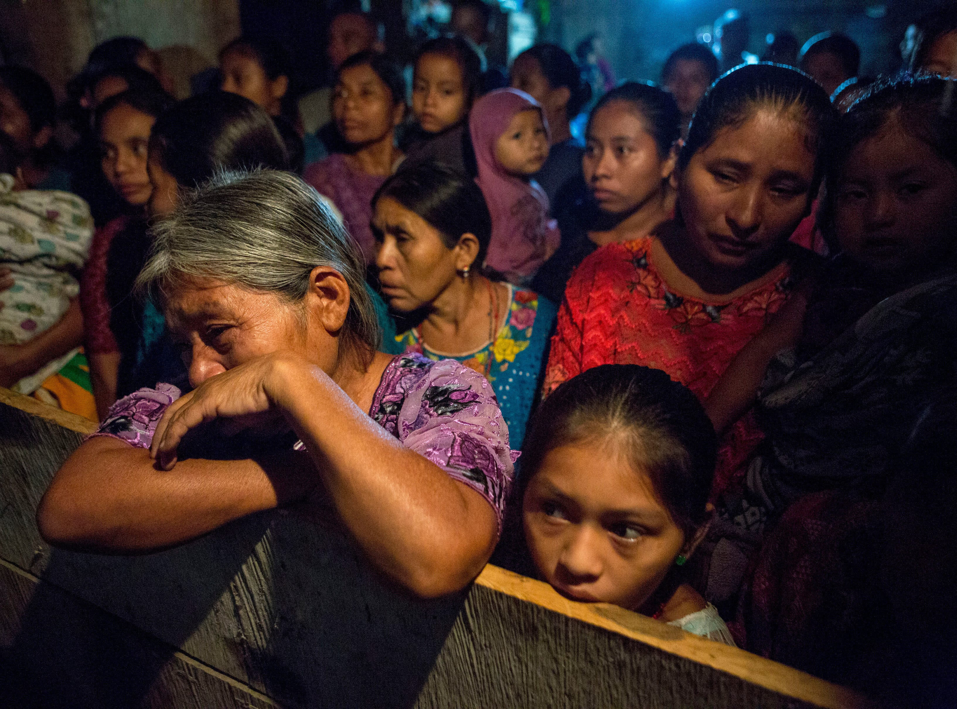 Elvira Choc grieves as she attends a memorial service for her 7-year-old granddaughter Jakelin Caal Maquin, in San Antonio Secortez, Guatemala, Monday, Dec. 24, 2018. The body of the 7-year-old girl who died while in the custody of the U.S. Border Patrol was handed over to family members in her native Guatemala on Monday for a last goodbye.