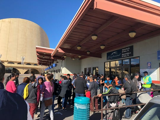 More than 50 migrants were dropped off at a Downtown El Paso Greyhound bus station by Immigration and Customs Enforcement officials on Christmas Eve.