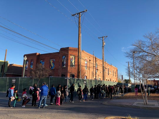 A second wave of migrants were released by ICE in Downtown El Paso late Monday afternoon. The release followed about 50 being dropped off at the Greyhound bus station earlier in the day, and about 200 being dropped off at the bus station Sunday night.