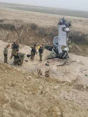 A man on the sheriff's Top 10 Fugitive list  led detectives on a chase through two counties before crashing into a canal in Kings County.