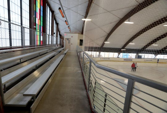 Renovations at the E.J. Murray Memorial Skating Center in Yonkers, photographed Dec. 24, 2018 include a heated balcony with seating overlooking the rink.