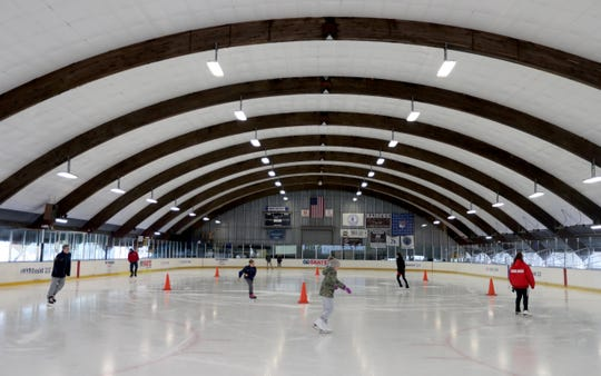 Renovations at the E.J. Murray Memorial Skating Center in Yonkers, photographed Dec. 24, 2018 include a heated balcony with seating overlooking the rink, new restrooms, a handicapped accessible ramp at the entrance, and new offices and  D.J. booth.