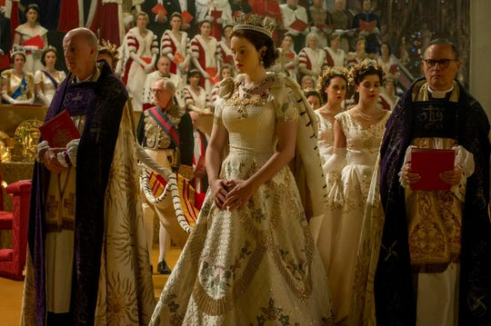 "Winterthur Museum will open the exhibit ""Costuming the Crown"" in March, looking at fashions from the Netflix series, including the coronation robe."