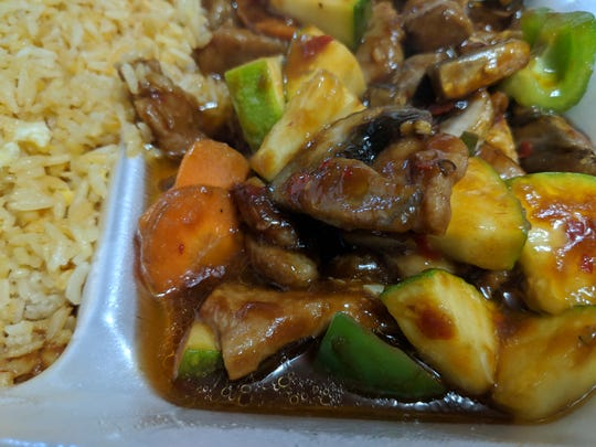 Garlic Pork at Kung Fu Kitchen.