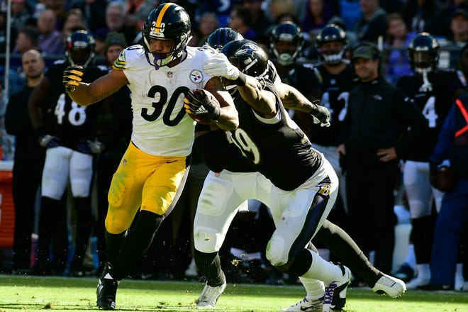 Despite missing the last three games with an ankle injury, Pittsburgh Steelers running back James Conner has rushed for 909 yards and 12 touchdowns.