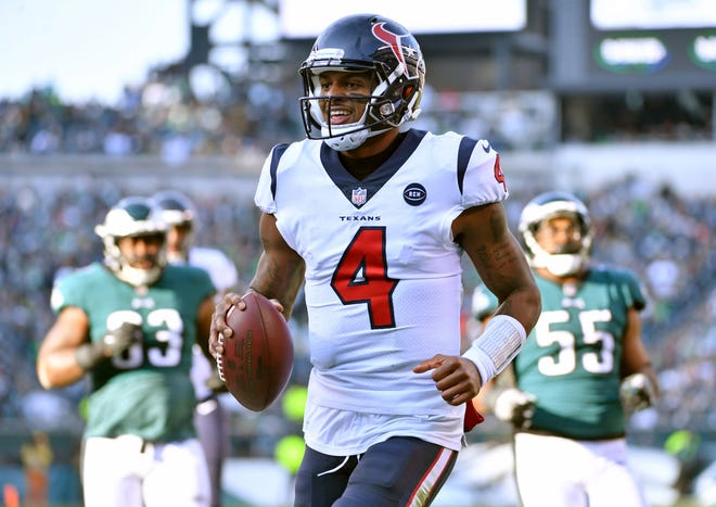 Texans quarterback Deshaun Watson was drafted highly in 2018, but selecting him really paid off in Week 16, when he threw for 339 yards and two touchdowns. He also ran for two more scores in a 32-30 loss to the Eagles.