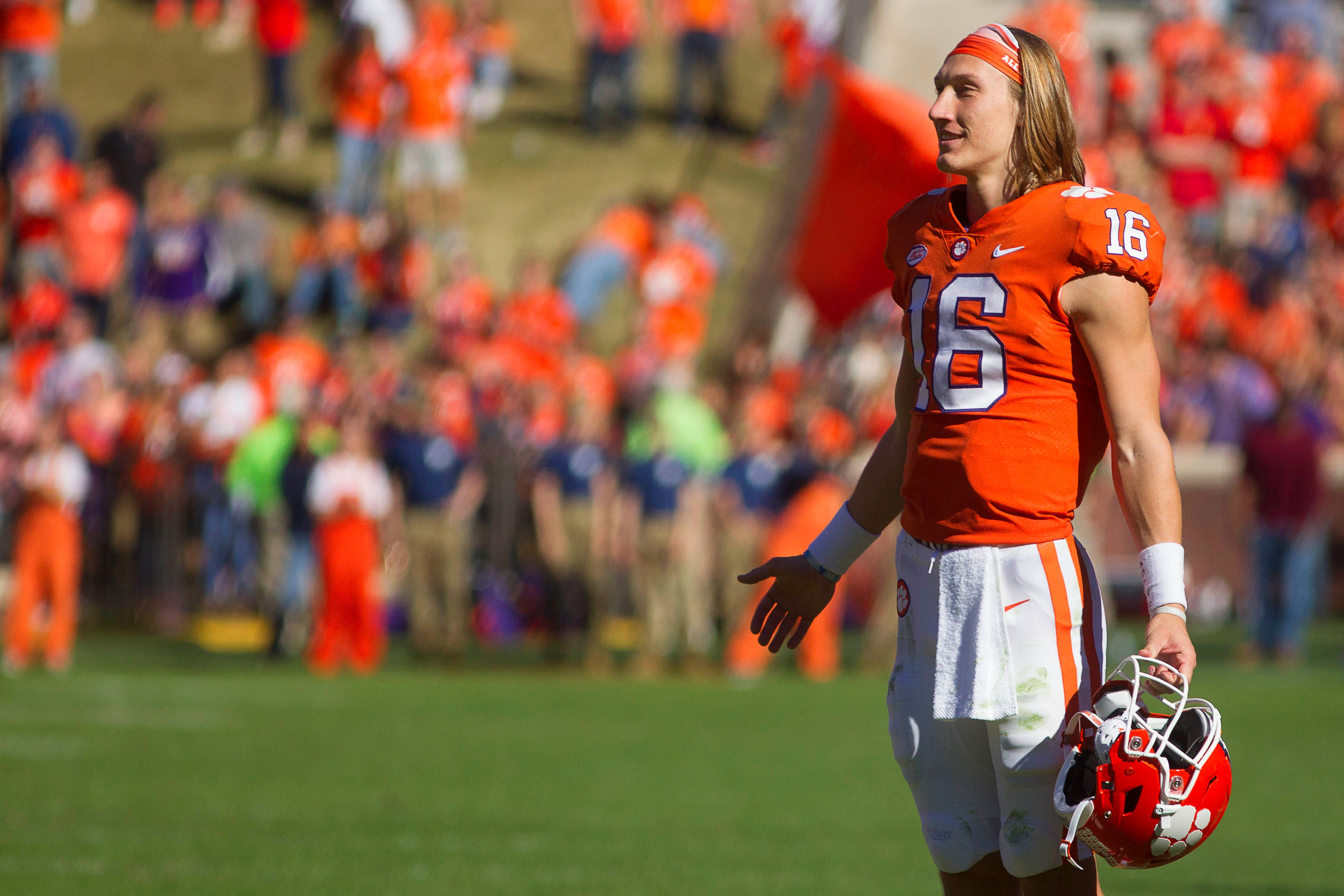 Clemson quarterback Trevor Lawrence wears his hair long just because.