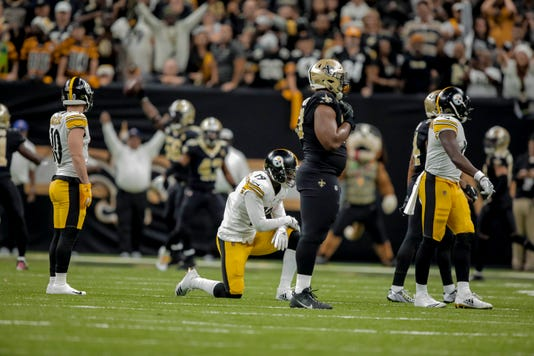 NFL Pittsburgh Steelers at the Saints in New Orleans
