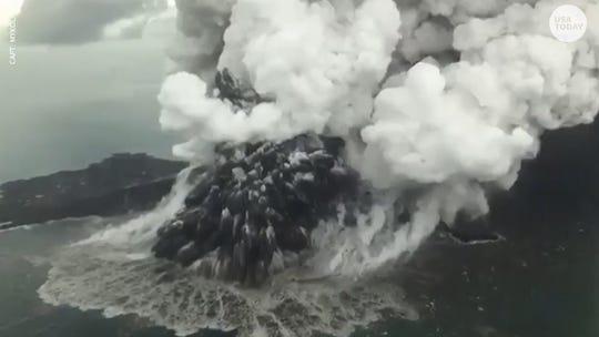 Indonesia widens exclusion zone around island volcano that triggered tsunami