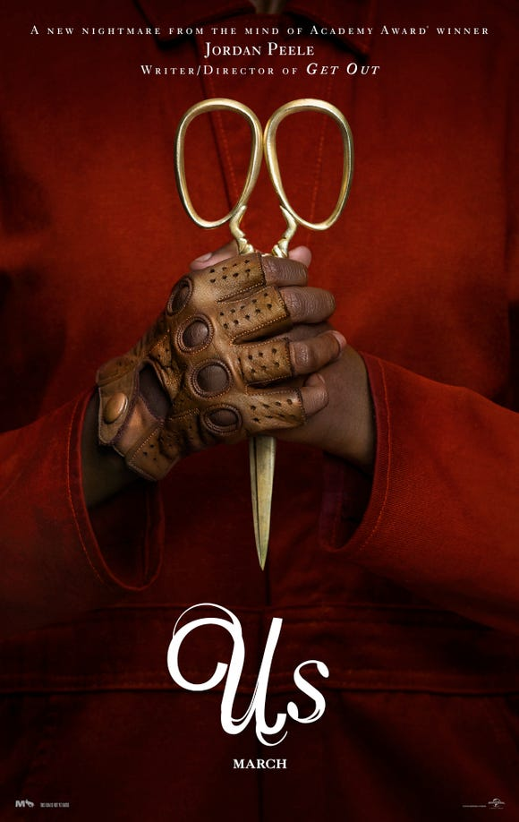 "Golden scissors are symbolic iconography in Jordan Peele's new horror film ""Us."""