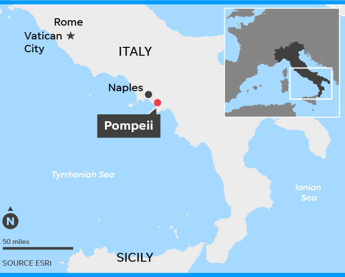 Pompeii World Map.Petrified Harnessed Hose Found In Pompeii Owned By Military Officer