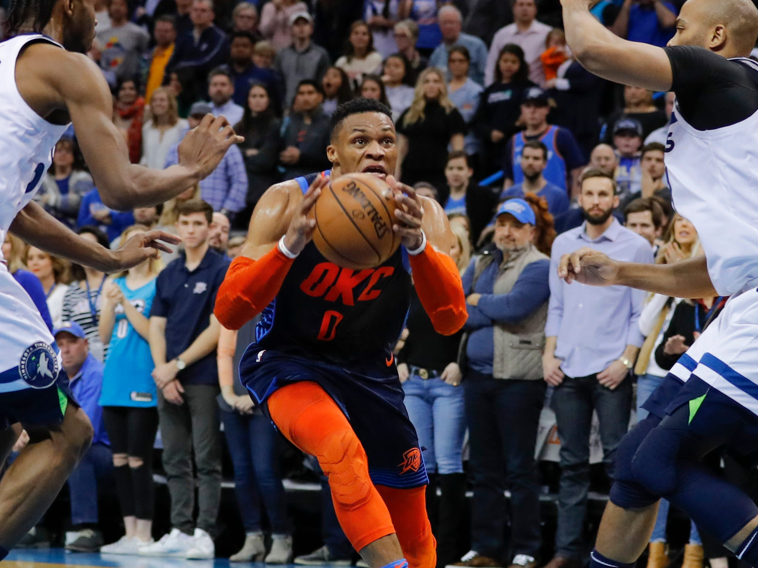 34. Russell Westbrook, Thunder (Dec. 23): 23 points, 11 rebounds, 10 assist in 114-112 loss to T'wolves (ninth of season).