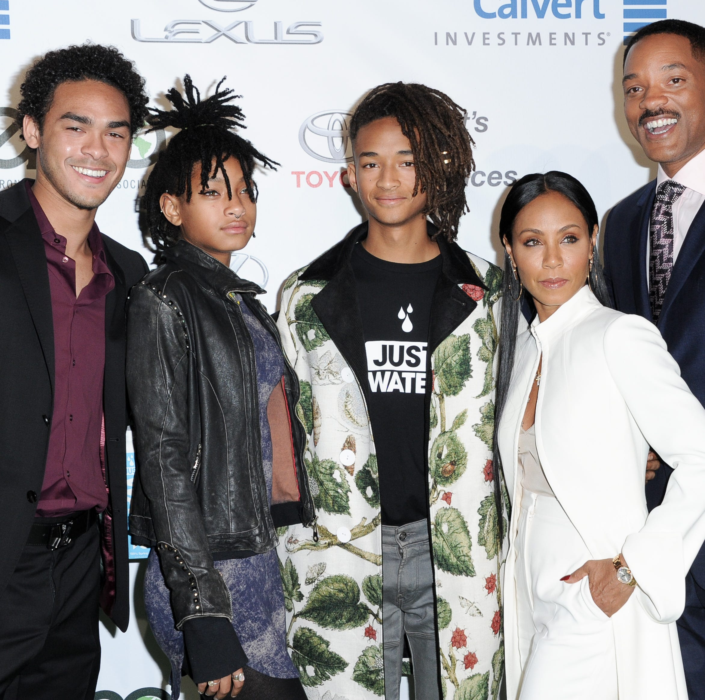 The Smith family, pictured here in 2016, is all together for the holidays: Trey Smith, from left, Willow Smith, Jaden Smith, Jada Pinkett Smith and Will Smith.