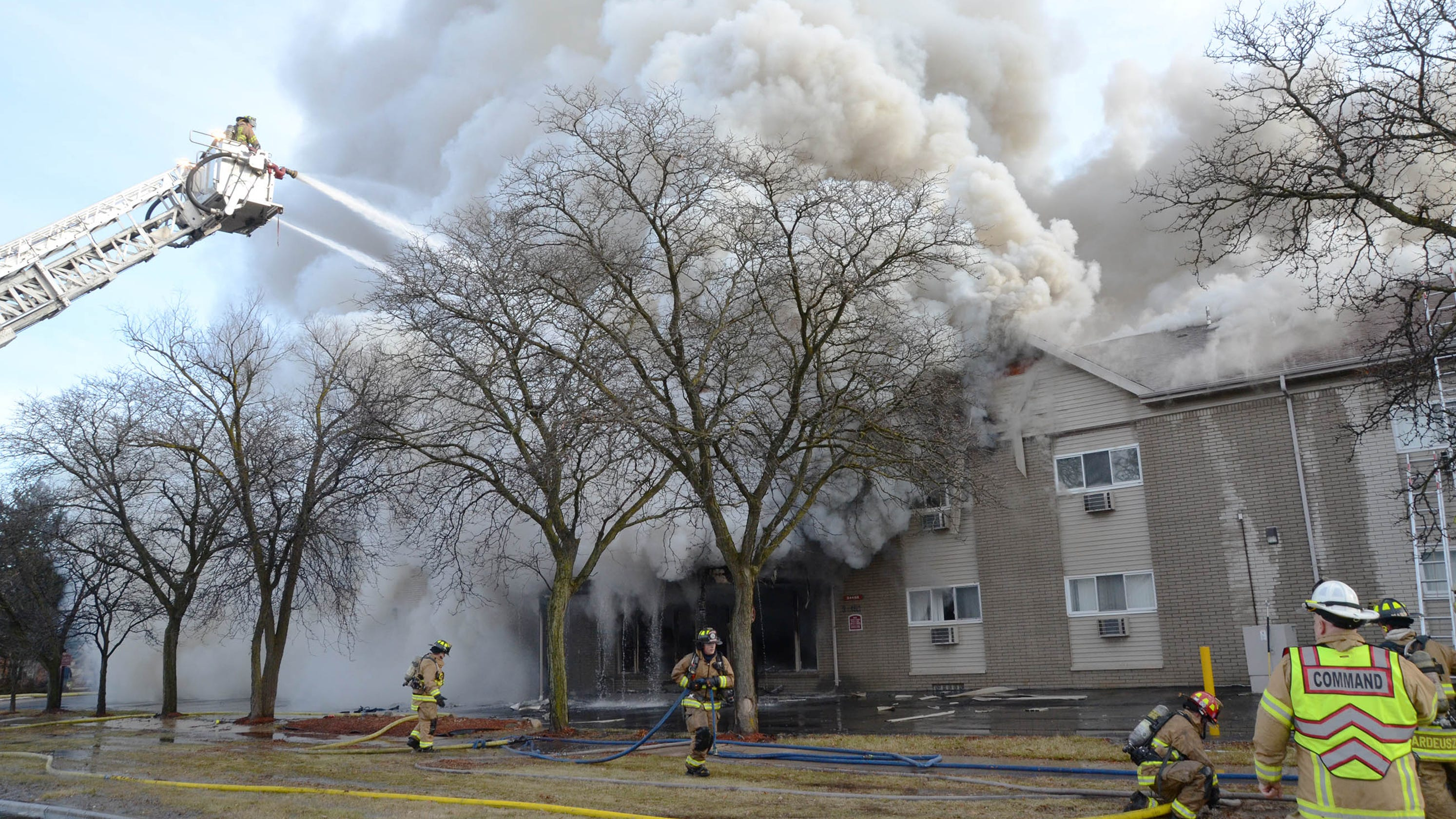 Christmas Day Fire Rips Through Apartment Building In Sterling Heights
