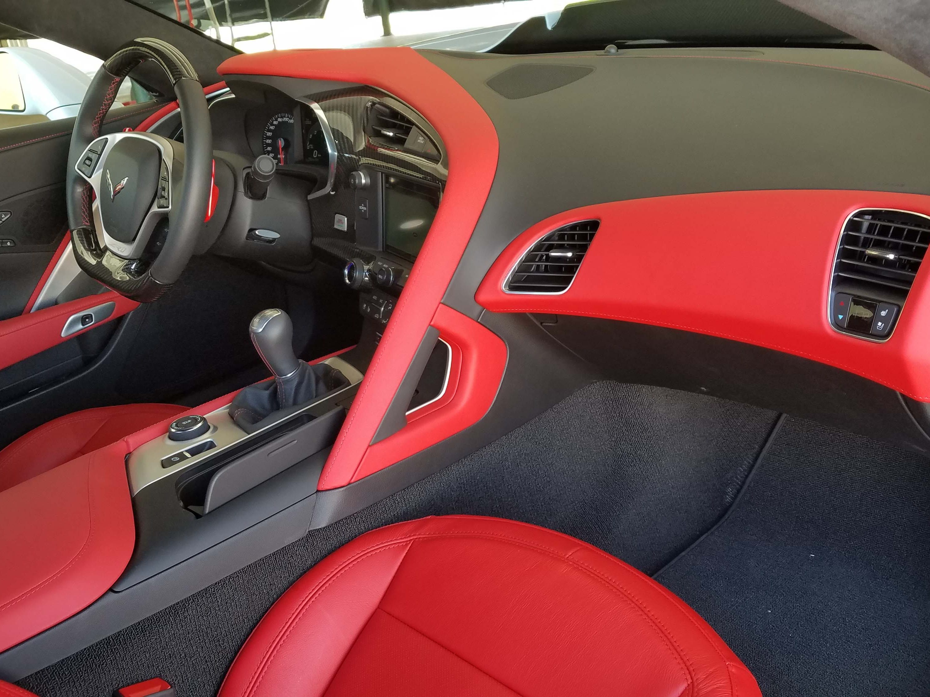 A ferocious monster on the outside, the Corvette ZR1 offers luxurious living on the inside with leather seats, Wi-Fi, smartphone connectivity and other swish amenities. It comes in red, too.