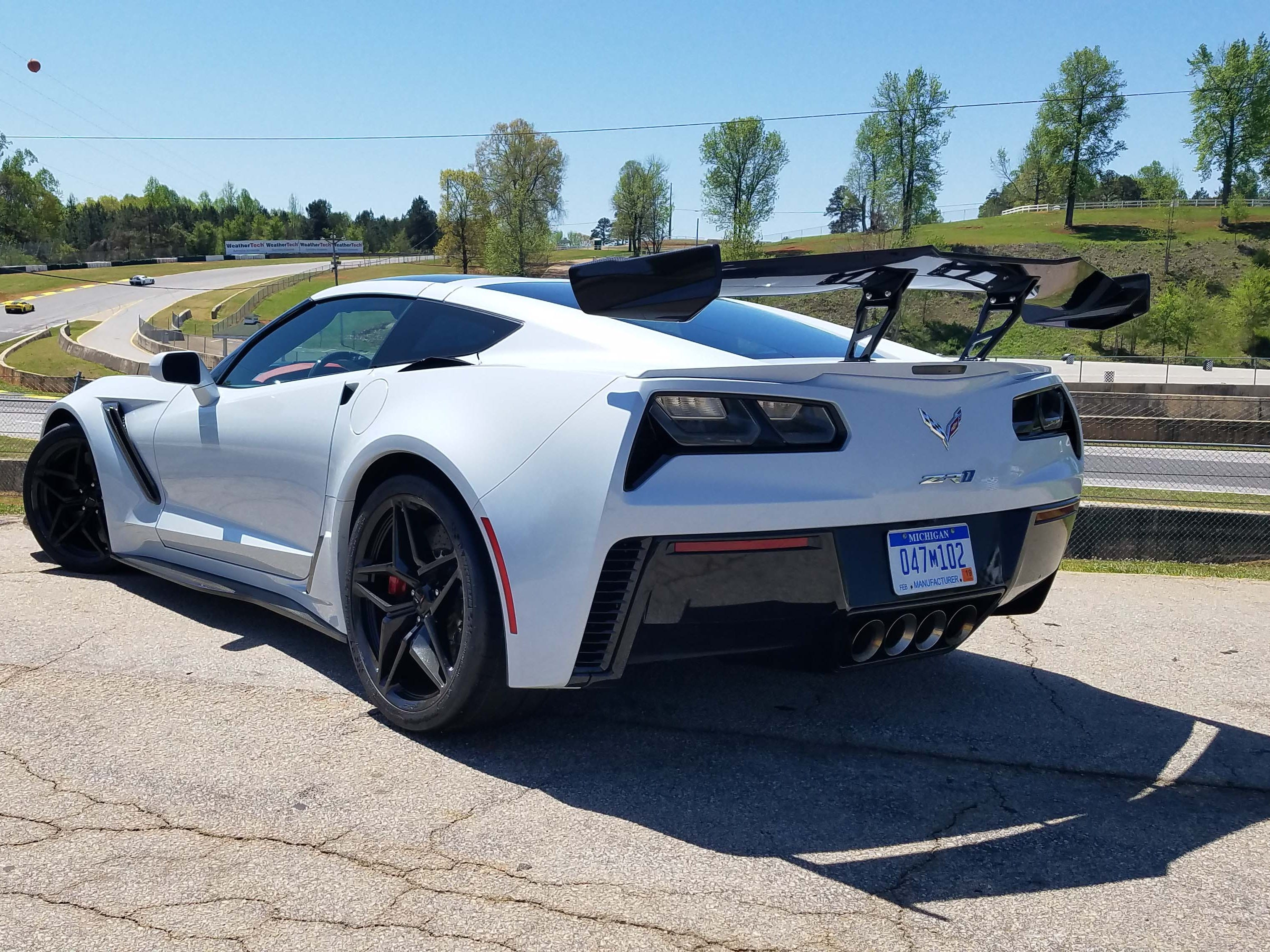 The wing's the thing. On Road Atlanta race track, the 755-horse Corvette ZR1 impresses with raw speed and nimble handling.