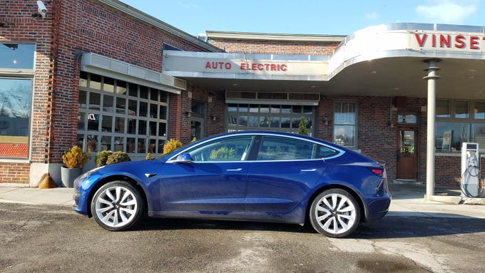 The winner of The Detroit News Vehicle of the Year is the Tesla Model 3, which sports a sleek sportback profile similar to the longer Model S. The 3 starts at $35,000 — the S starts at $74,500.